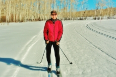 Kris Cooney, Owl Creek Road Trail, Aspen/Snowmass Village Expressway. MARTIN COONEY