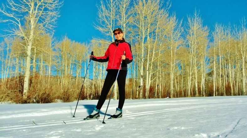 Kris, Owl Creek Road Trail, Aspen/Snowmass Village Expressway. MARTIN COONEY
