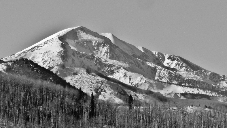 Mt. Sopris, CO, Owl Creek Road Trail, Aspen/Snowmass Village Express. MARTIN COONEY