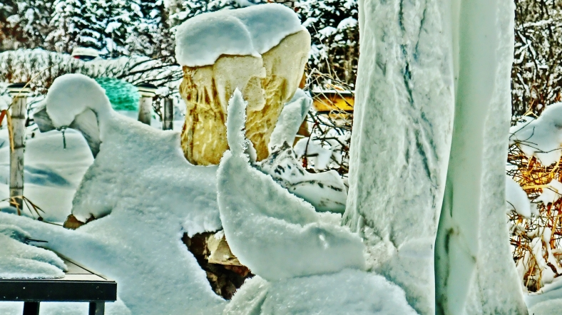 Ice Sculpture, The Sculpture Garden by MARTIN COONEY, Woody Creek, Colorado