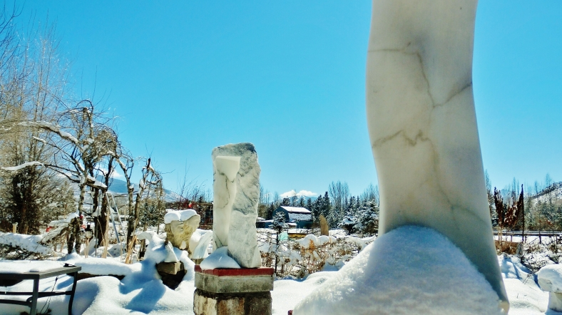 'Catwalk', 'Oblique Perspective', The Sculpture Garden by MARTIN COONEY, Woody Creek, Colorado