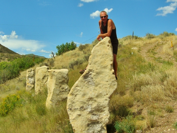 Author, Standing Stones, Woody Creek, Colorado