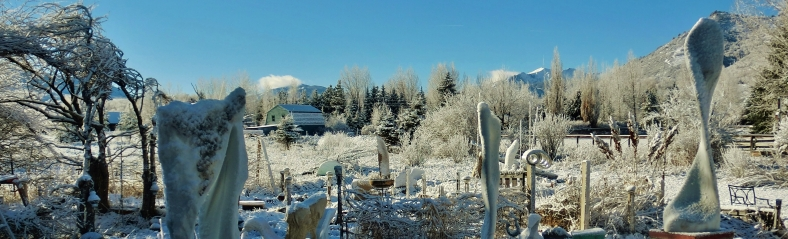 The Colorado Rocky Mountain Sculpture Garden, Woody Creek CO Tuesday March 3, 2015 10:06 AM