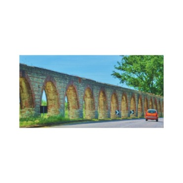 Aqueduct Road, 18 x 9, Wrapped Canvas Print, center