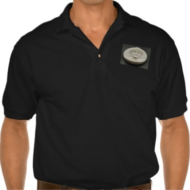 Blue Italian Rowing Boat, Men, Gildan Jersey Polo Shirt, Front, Black
