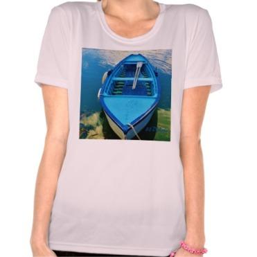 Blue Italian Wooden Rowing Boat, Women, Sport-Tek Competitor T-Shirt, Front, Pink