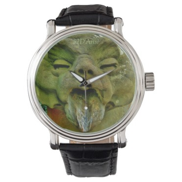 Boboli Garden Gargoyle, Men's Leather Strap Watch