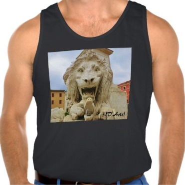 Bold Lion of Massa, Men Ultra Cotton Tank Top, Front, Black