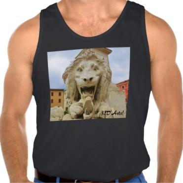Bold Lion of Massa, Men Ultra Cotton Tank Top, Front, Black