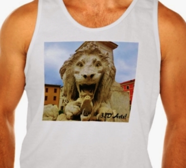 Bold Lion of Massa, Men Ultra Cotton Tank Top, Front, Close-up White