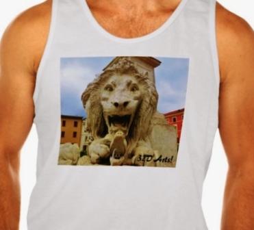 Bold Lion of Massa, Men Ultra Cotton Tank Top, Front, Close-up White