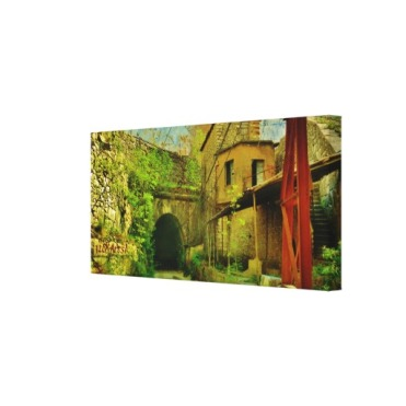 Carrara Marble Quarry Tunnel, Wrapped Canvas Print, 28 x 25, right