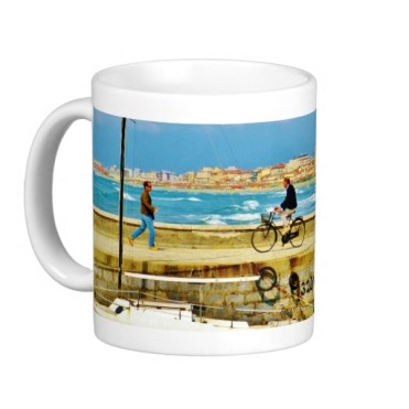 Chance Encounter, Viareggio Pier, Classic Mug, Left
