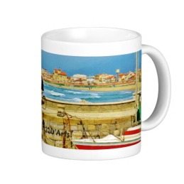 Chance Encounter, Viareggio Pier, Classic Mug, Right