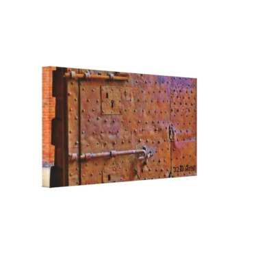 Curfew Gate, Detail, Lucca, 24 x 12.5, Wrapped Canvas Print, left