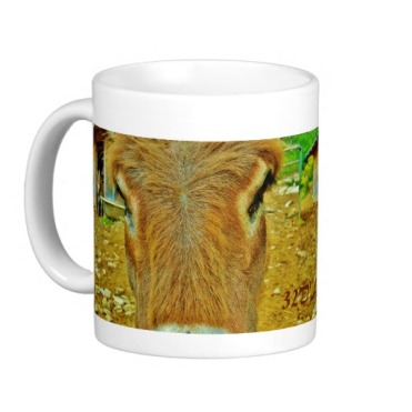 Curious Mules, Lunigiana Roadside Attraction, Classic Mug, Left