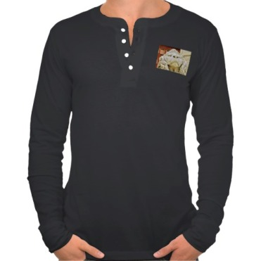 Lions of Massa, Men, Canvas Henley Long Sleeve Shirt, Front, Black
