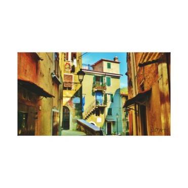 Downtown Colonnata, 24 x 13, Wrapped Canvas Print, center