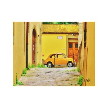 Fiat in a Box, Wrapped Canvas Print,