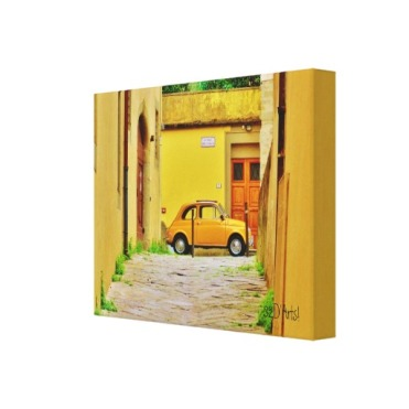 Fiat in a Box, Pistoia, Wrapped Canvas Print, 14 x 11, right