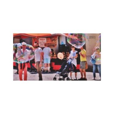 Fifizzano Festival Bubbles, 15 x 8, Wrapped Canvas Print, center