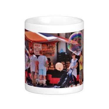 Fivizzano Festival Families Admire Bubbles, Classic Mug, Center