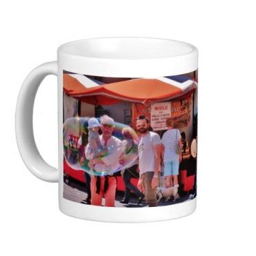 Fivizzano Festival Families Admire Bubbles, Classic Mug, Left