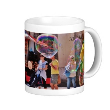 Fivizzano Festival Families Admire Bubbles, Classic Mug, Right
