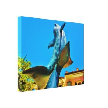 Forte dei Marmi Dolphin Sky Shot, 22 x 17, Wrapped Print Canvas Print, left