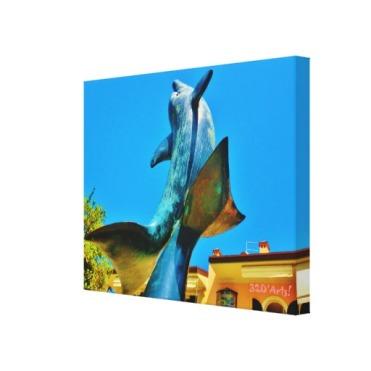 Forte dei Marmi Dolphin Sky Shot, 22 x 17, Wrapped Print Canvas Print, right