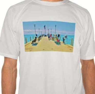 Forte dei Marmi Pier Lunchtime Crowd, Men, Champion Double Dry Mesh T-Shirt, Front, Close-up, White,