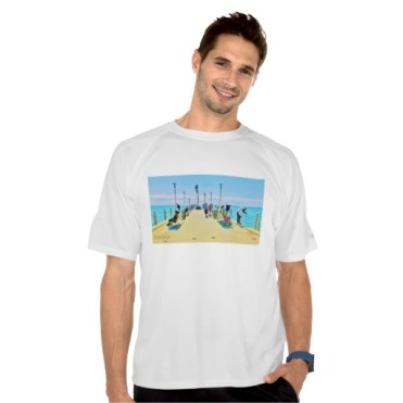 Forte dei Marmi Pier Lunchtime Crowd, Men, Champion Double Dry Mesh T-Shirt, Model, Front, White