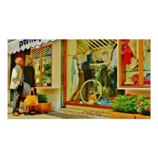 Forte dei Marmi Window Shopping, Poster Print, 27 x 15