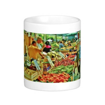 La Spezia Market Fruit Inspection, Classic Mug, Center
