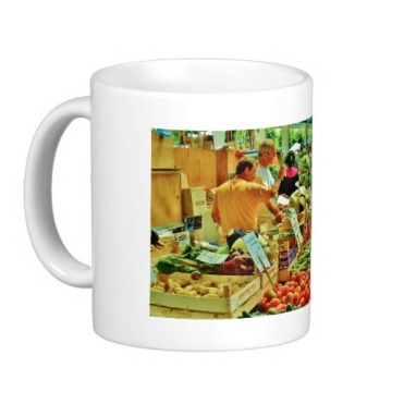 La Spezia Market Fruit Inspection, Classic Mug, Left