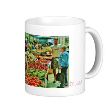 La Spezia Market Fruit Inspection, Classic Mug, Right