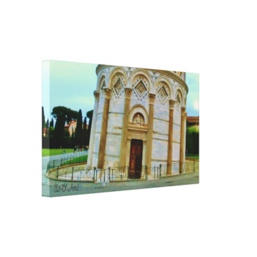 Leaning Tower Doorway, Wrapped Canvas Print, 24 x 14, left