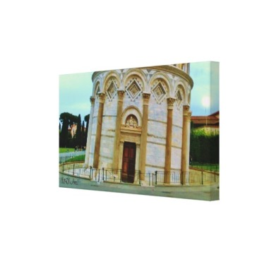 Leaning Tower Doorway, Wrapped Canvas Print, 24 x 14, right