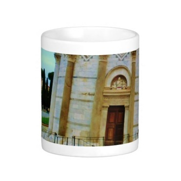 Leaning Tower of Pisa Entrance at Dusk, Classic Mug, Center