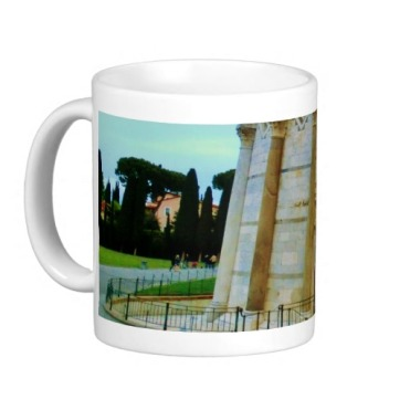 Leaning Tower of Pisa Entrance at Dusk, Classic Mug, Left