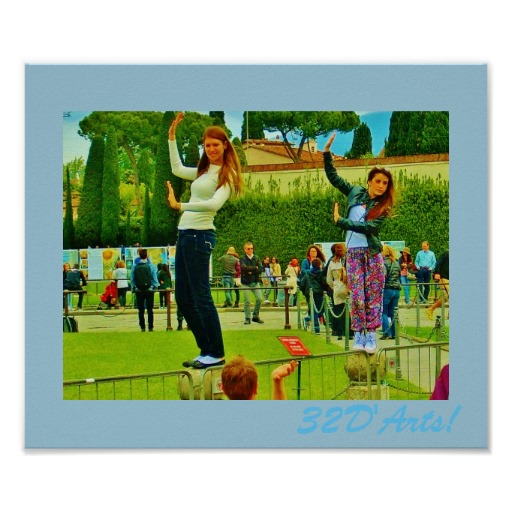 Leaning Tower of Pisa Posers Poster Print, No 1, Poster Print, 12 x 10