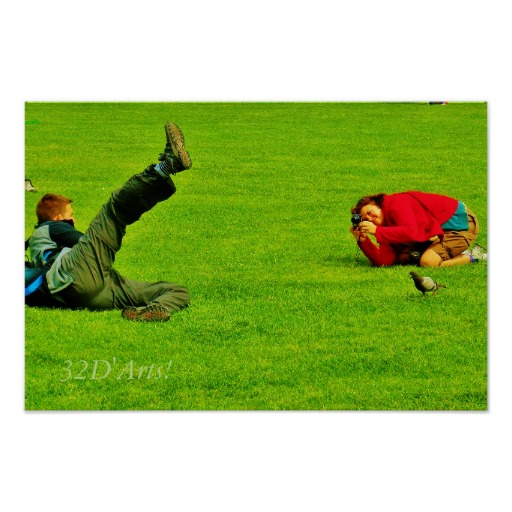 Leaning Tower Of Pisa Posers Poster Print, No. 3, 18 x 12