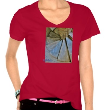 Leaning Tower of Pisa Spiral Staircase, Women, Hanes Nano V-Neck T-Shirt, Front, Red