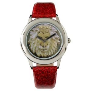Lenny the Lion of Massa, Child's Glitter Wrist Watch