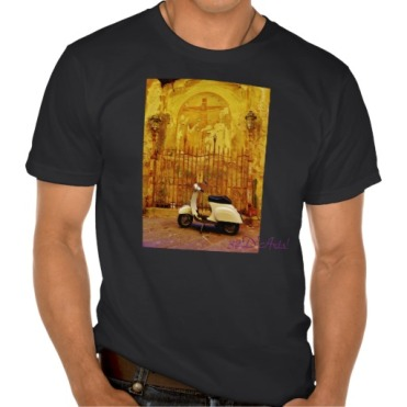 Lucca Alleyway Scooter Collection Box, Men, American Apparel Organic T-Shirt, Front, Black