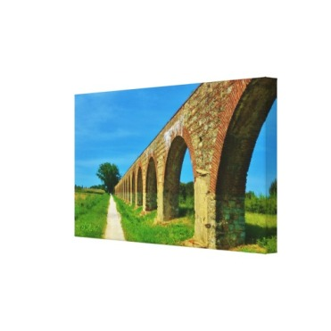 Lucca Aqueduct Footpath, 24 x 14, Wrapped Canvas Print, right