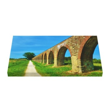 Lucca Aqueduct Footpath, 24 x 14, Wrapped Canvas Print, up