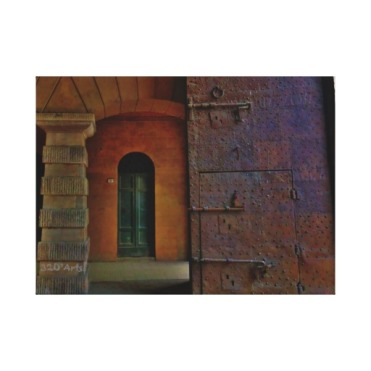 Monumental Gates, Lucca, 22 x 16, Wrapped Canvas Print
