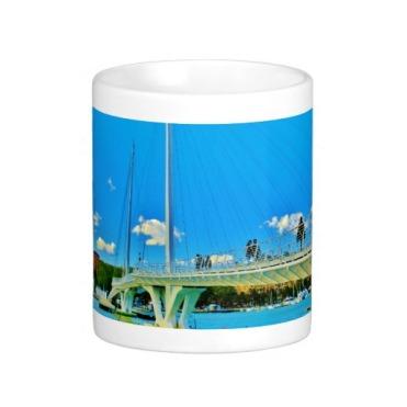 No Big Rush, La Spezia Harbor Suspension Bridge, Classic Mug, Center