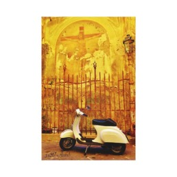 Parked Vespa Donation Box, Lucca, Wrapped Print, 15 x 23, center